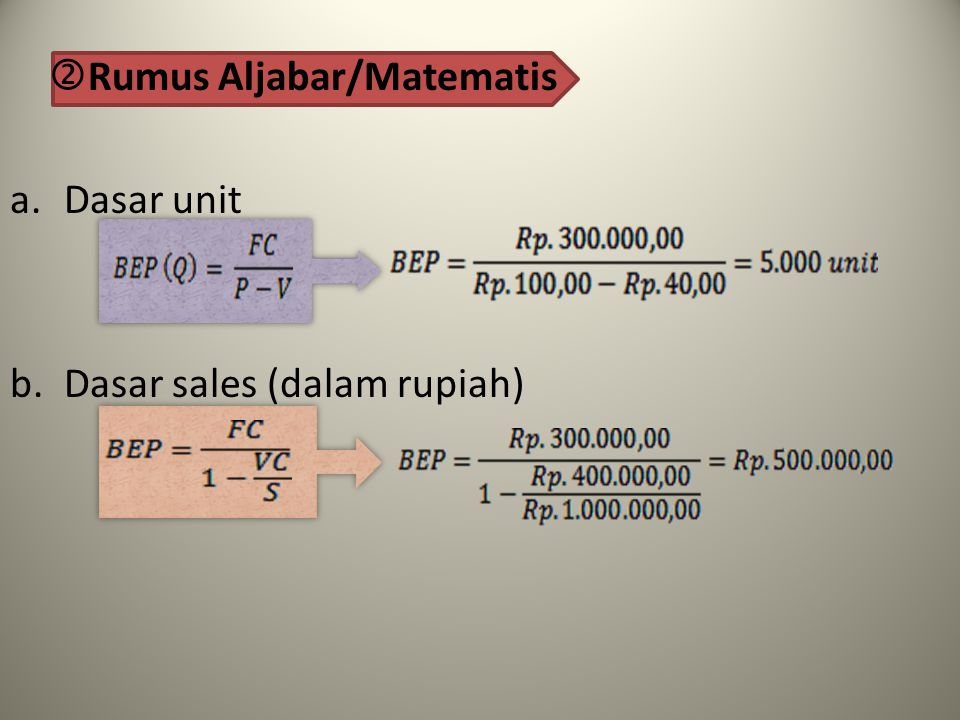 Rumus Aljabar/Matematis