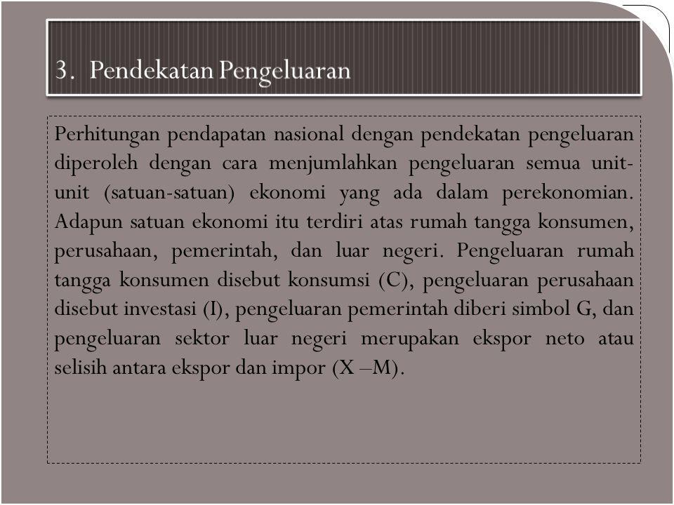 3. Pendekatan Pengeluaran