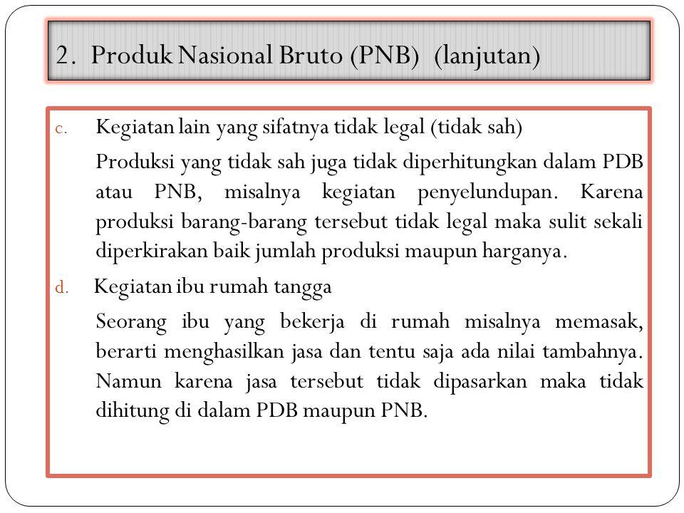 2. Produk Nasional Bruto (PNB) (lanjutan)