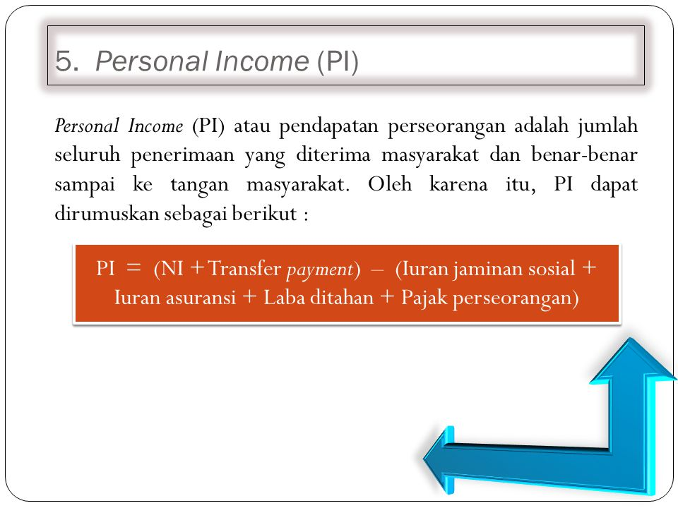 5. Personal Income (PI)