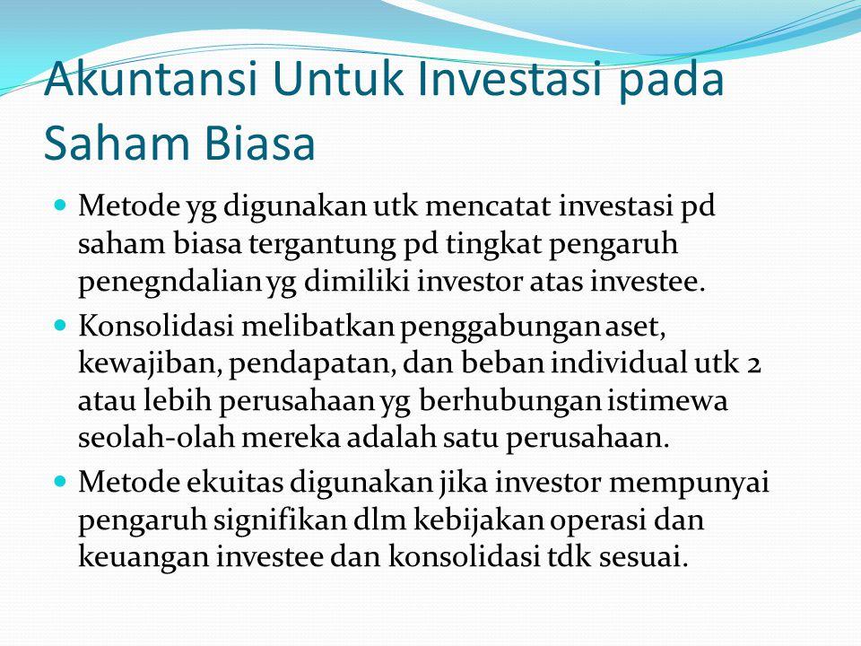 Akuntansi Untuk Investasi pada Saham Biasa