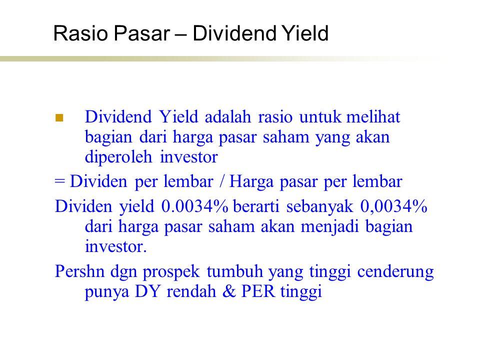 Rasio Pasar – Dividend Yield