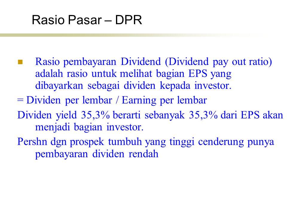 Rasio Pasar – DPR