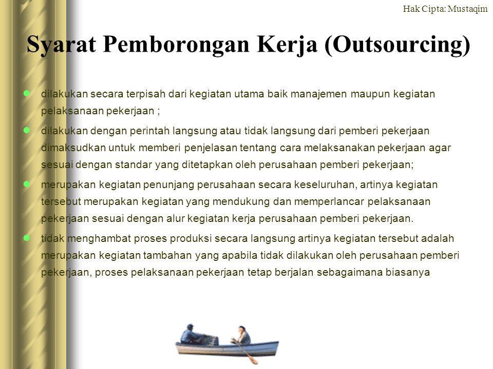 Syarat Pemborongan Kerja (Outsourcing)