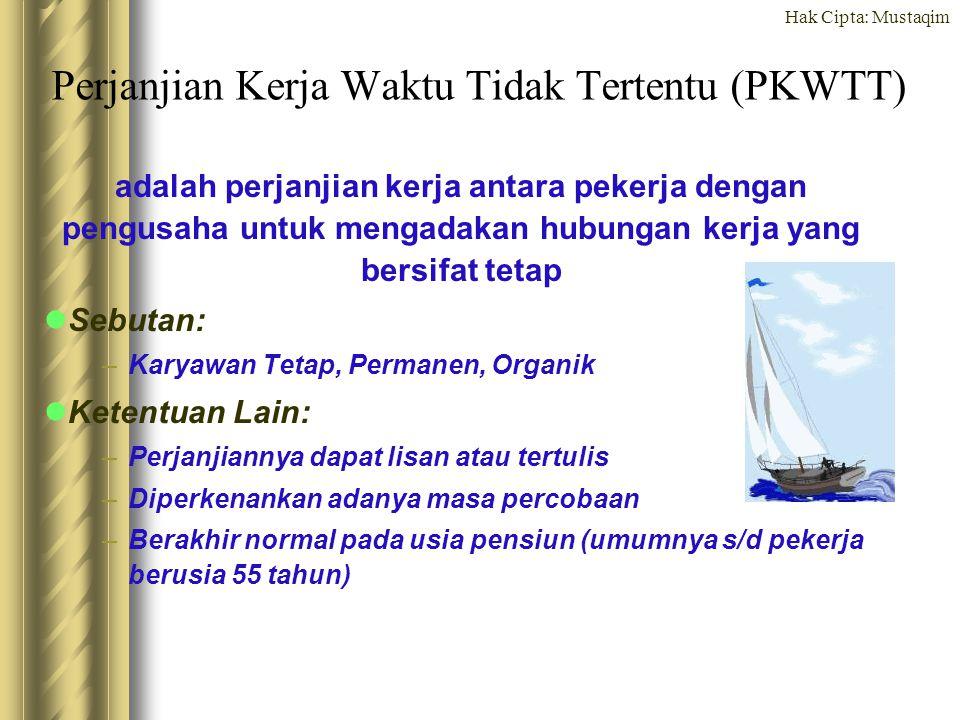 Perjanjian Kerja Waktu Tidak Tertentu (PKWTT)