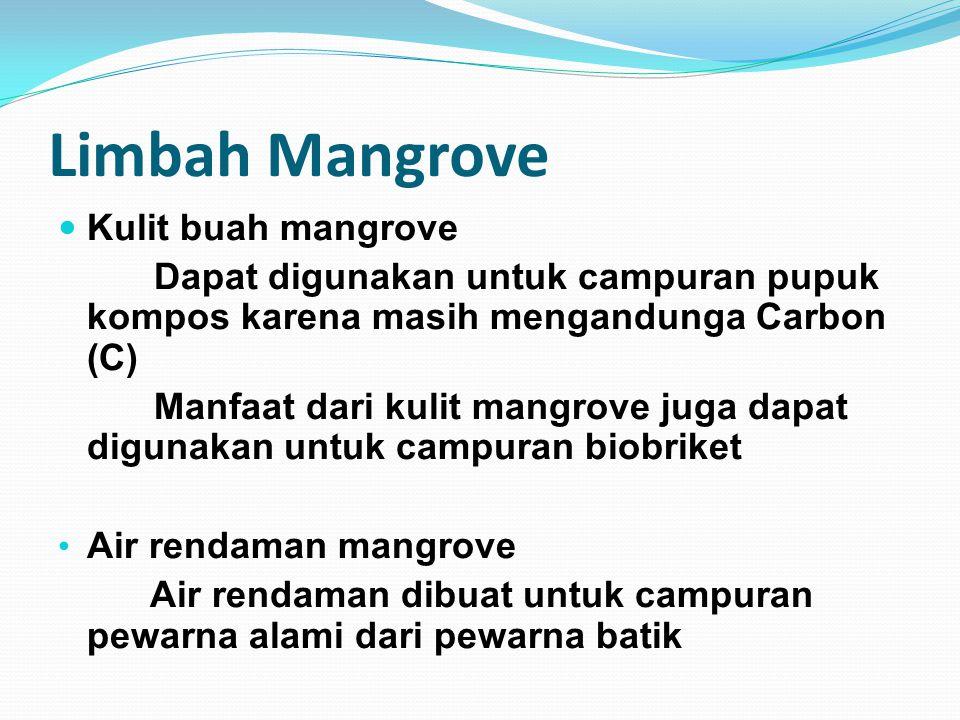 Limbah Mangrove Kulit buah mangrove
