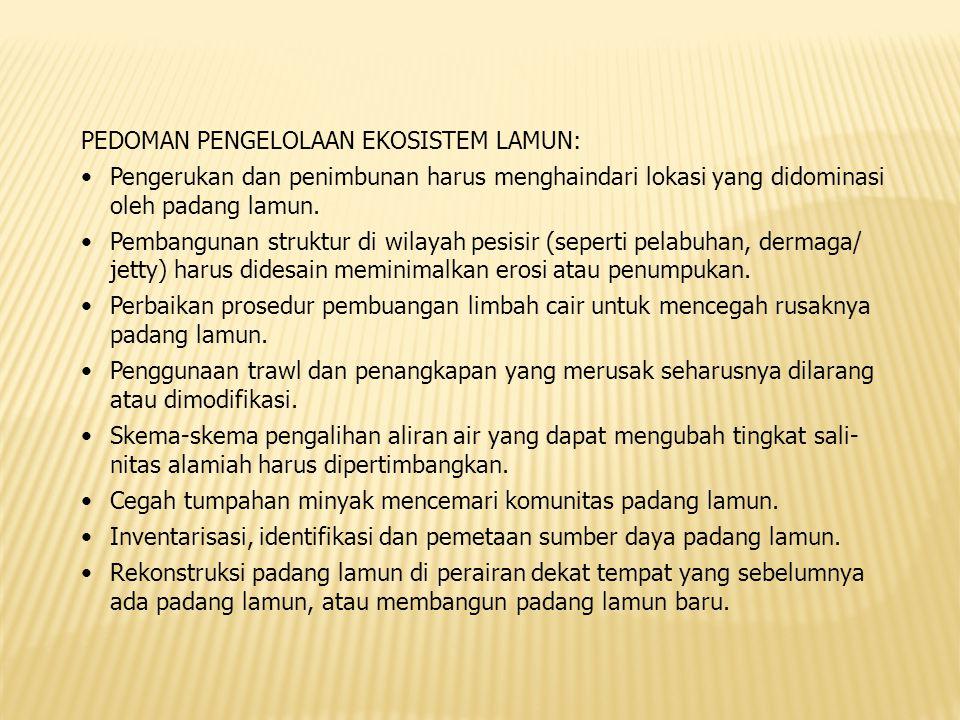 PEDOMAN PENGELOLAAN EKOSISTEM LAMUN: