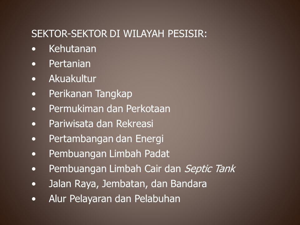 SEKTOR-SEKTOR DI WILAYAH PESISIR:
