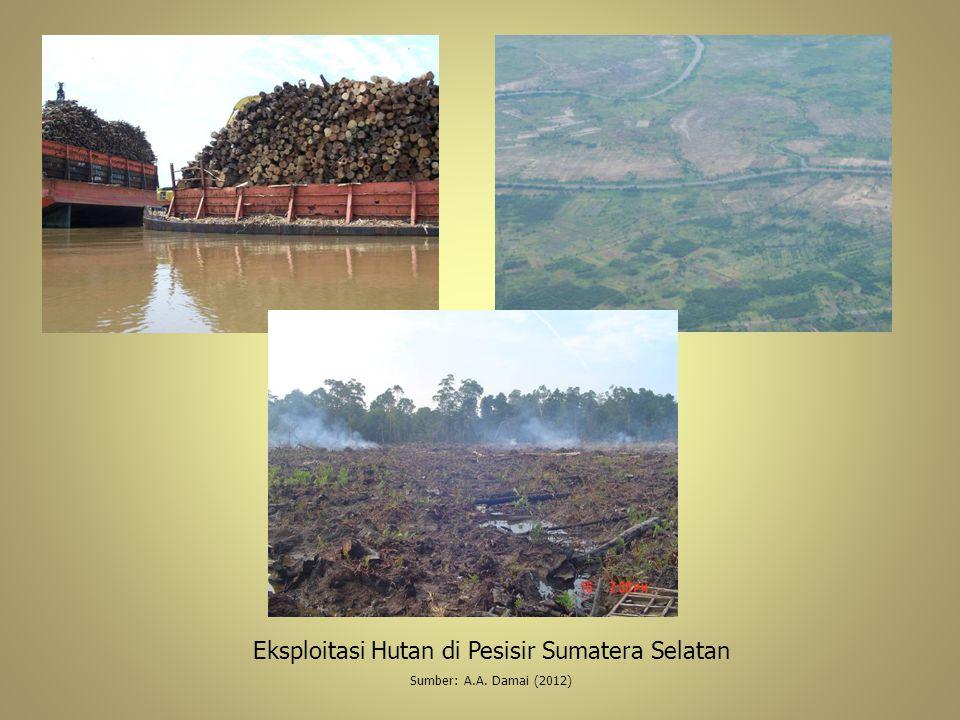 Eksploitasi Hutan di Pesisir Sumatera Selatan