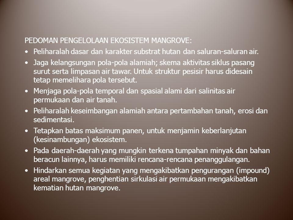 PEDOMAN PENGELOLAAN EKOSISTEM MANGROVE: