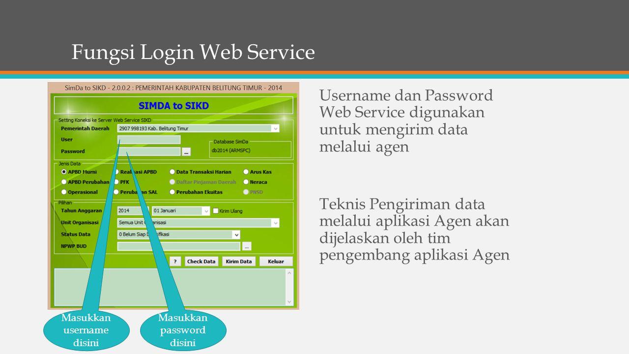 Fungsi Login Web Service