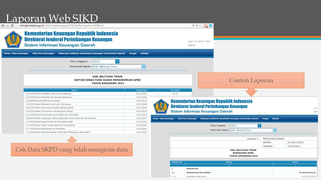 Cek Data SKPD yang telah mengirim data