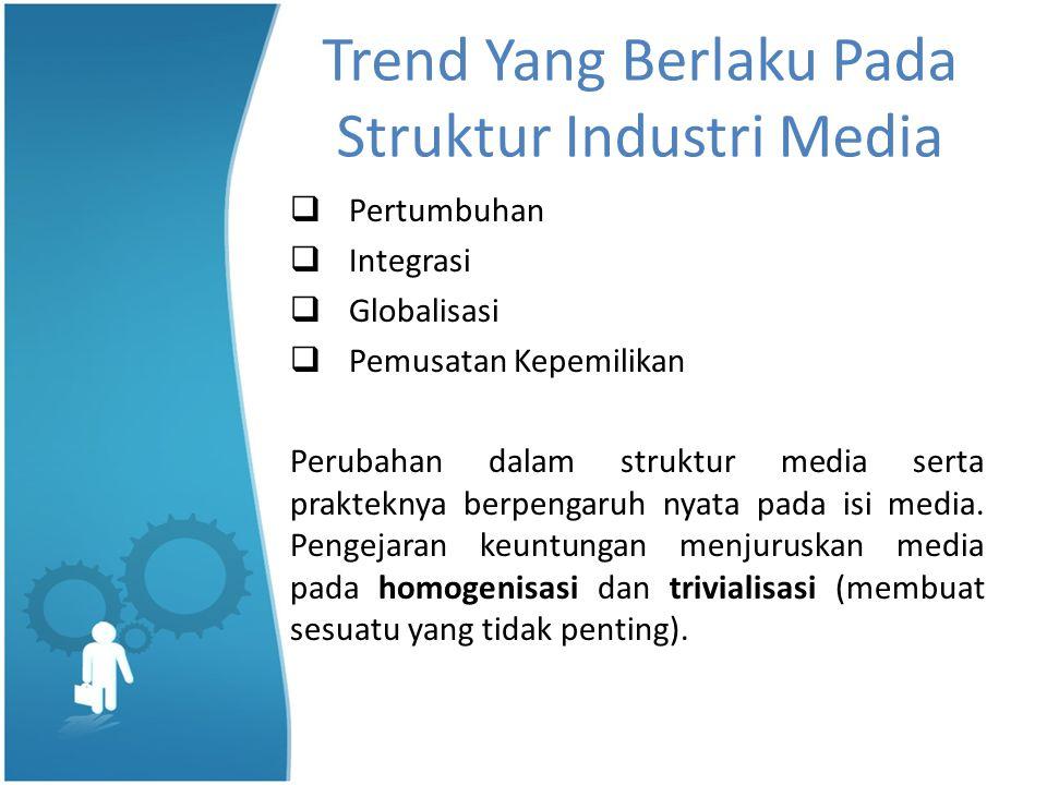 Trend Yang Berlaku Pada Struktur Industri Media