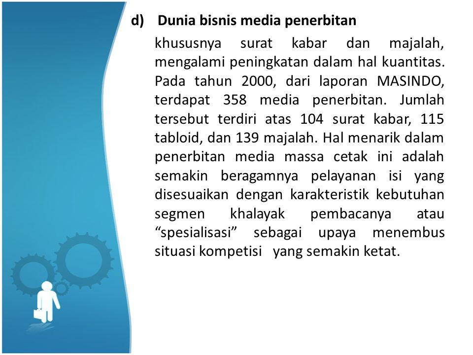 Dunia bisnis media penerbitan