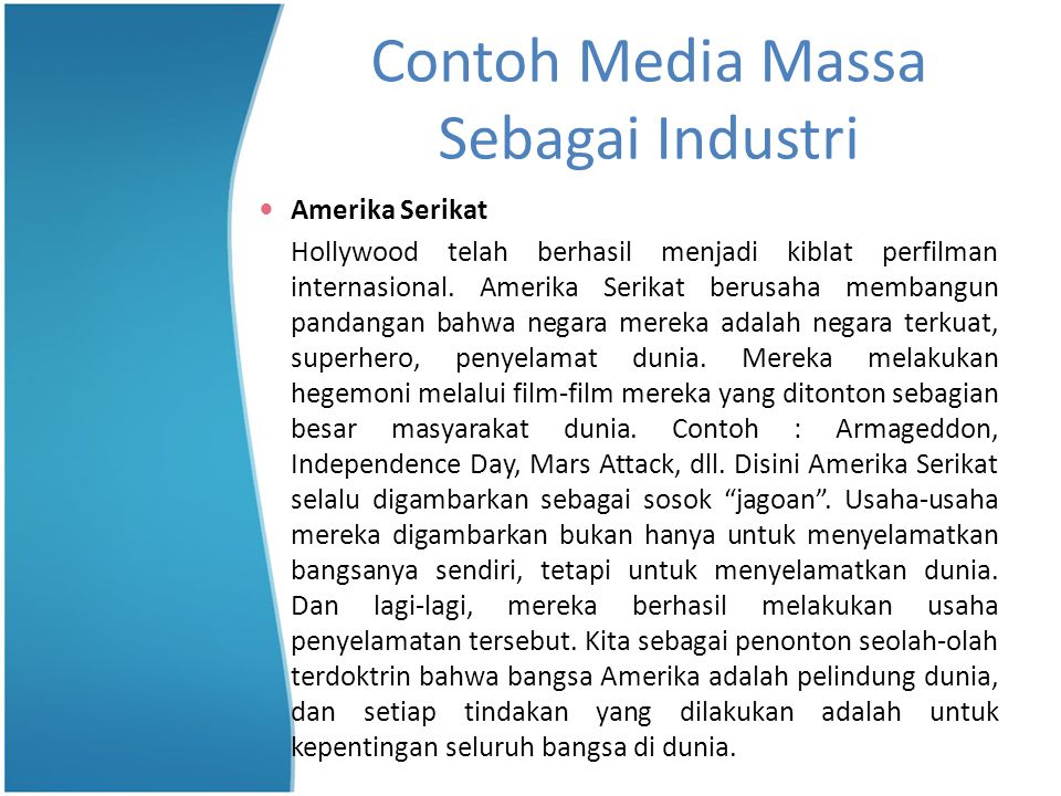 Contoh Media Massa Sebagai Industri