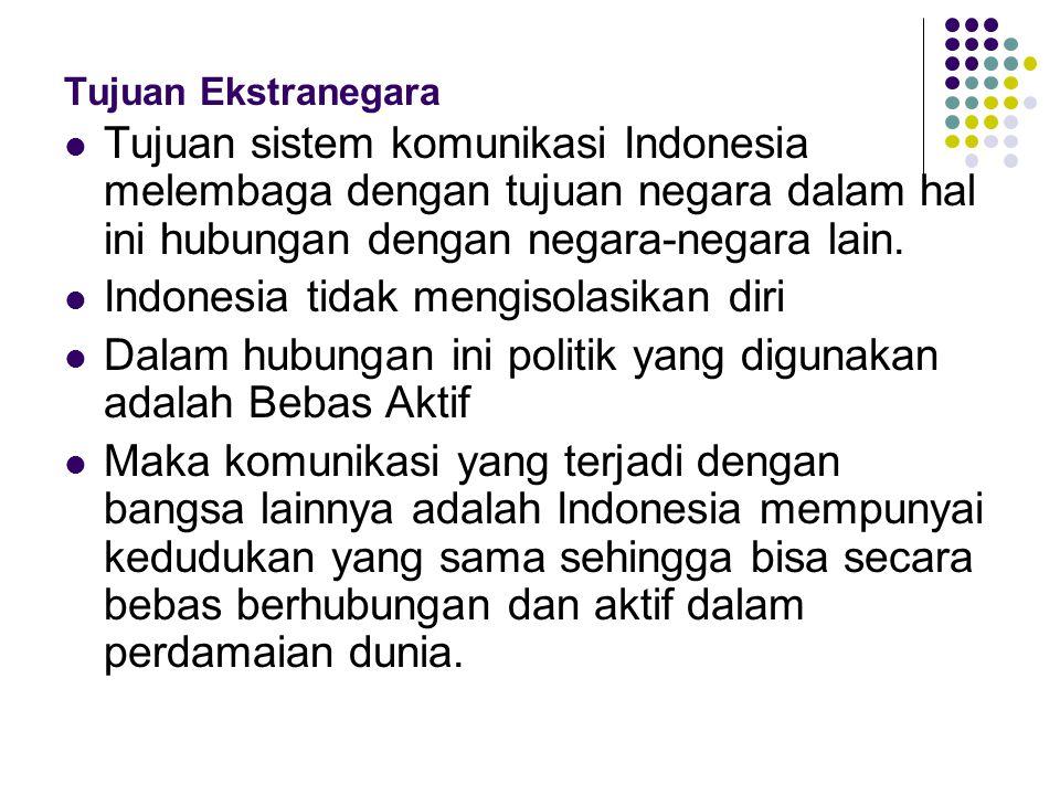 Indonesia tidak mengisolasikan diri