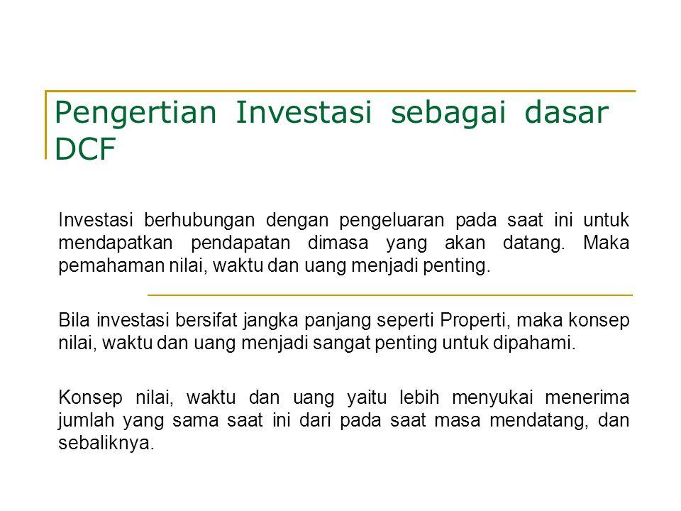 Pengertian Investasi sebagai dasar DCF