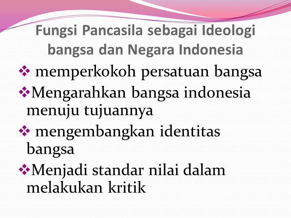Fungsi Pancasila sebagai Ideologi bangsa dan Negara Indonesia