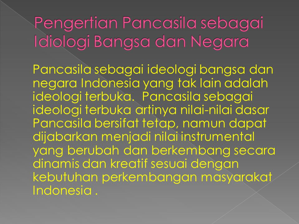 Pengertian Pancasila sebagai Idiologi Bangsa dan Negara