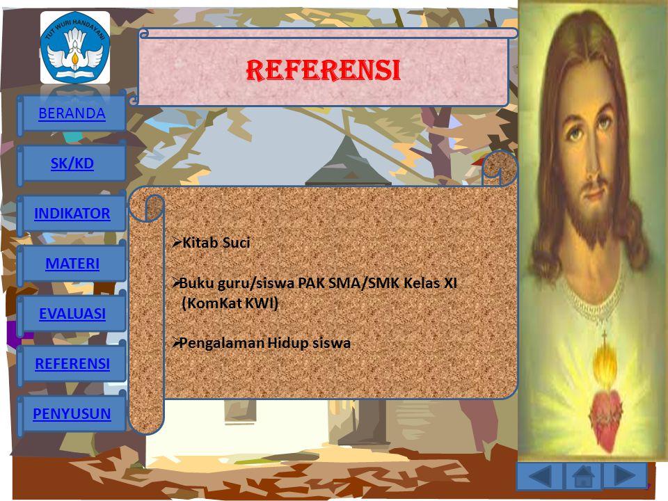 REFERENSI Kitab Suci Buku guru/siswa PAK SMA/SMK Kelas XI (KomKat KWI)