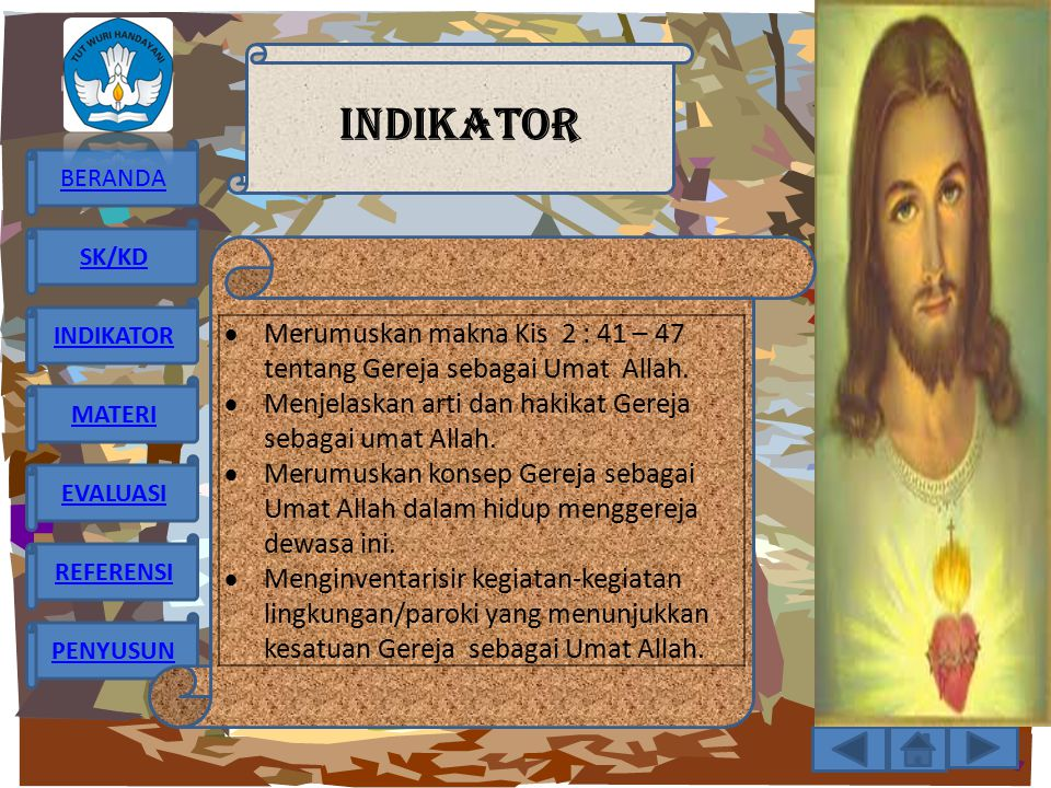INDIKATOR Merumuskan makna Kis 2 : 41 – 47 tentang Gereja sebagai Umat Allah. Menjelaskan arti dan hakikat Gereja sebagai umat Allah.