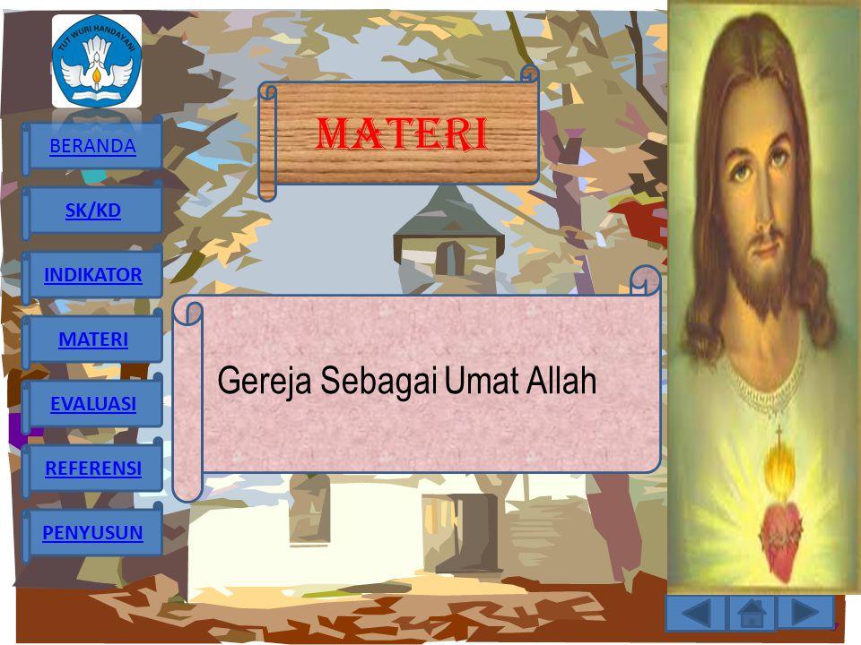 MATERI Gereja Sebagai Umat Allah