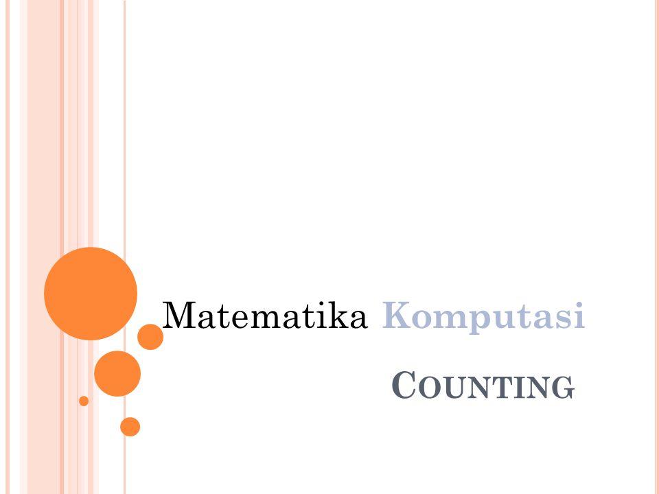 Matematika Komputasi Counting