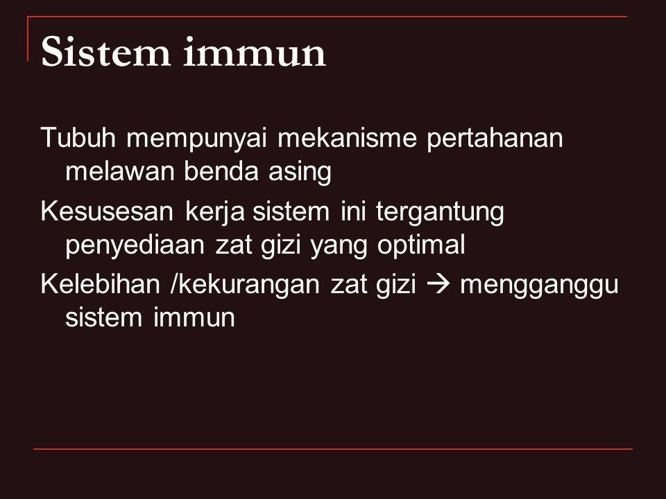 Sistem immun Tubuh mempunyai mekanisme pertahanan melawan benda asing