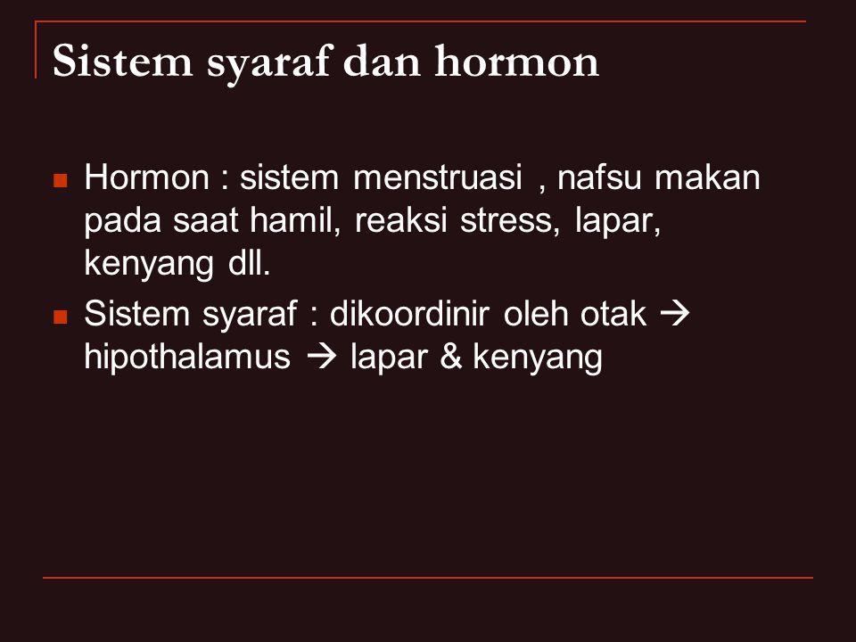 Sistem syaraf dan hormon