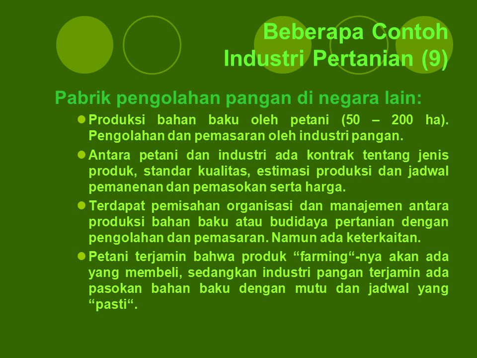 Beberapa Contoh Industri Pertanian (9)