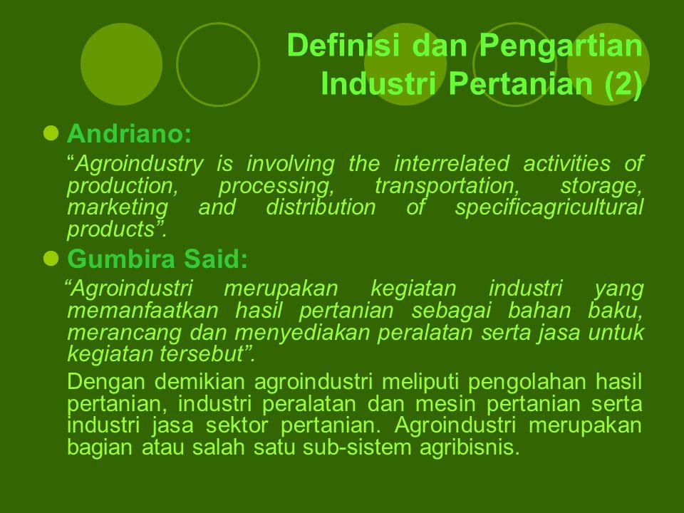 Definisi dan Pengartian Industri Pertanian (2)
