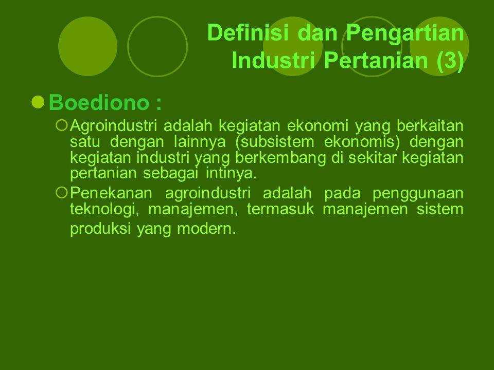 Definisi dan Pengartian Industri Pertanian (3)
