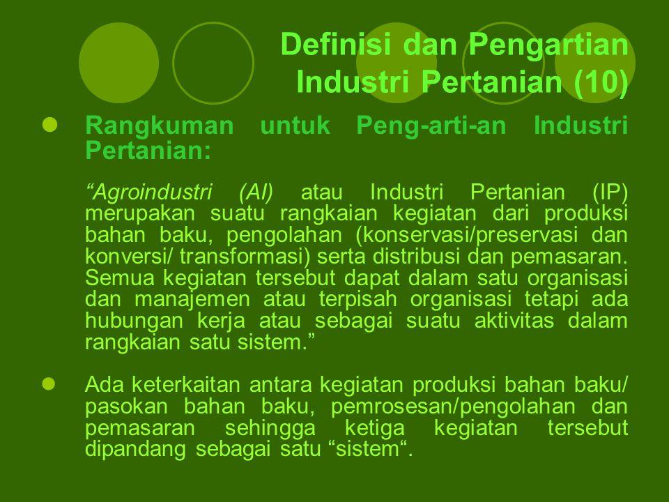 Definisi dan Pengartian Industri Pertanian (10)