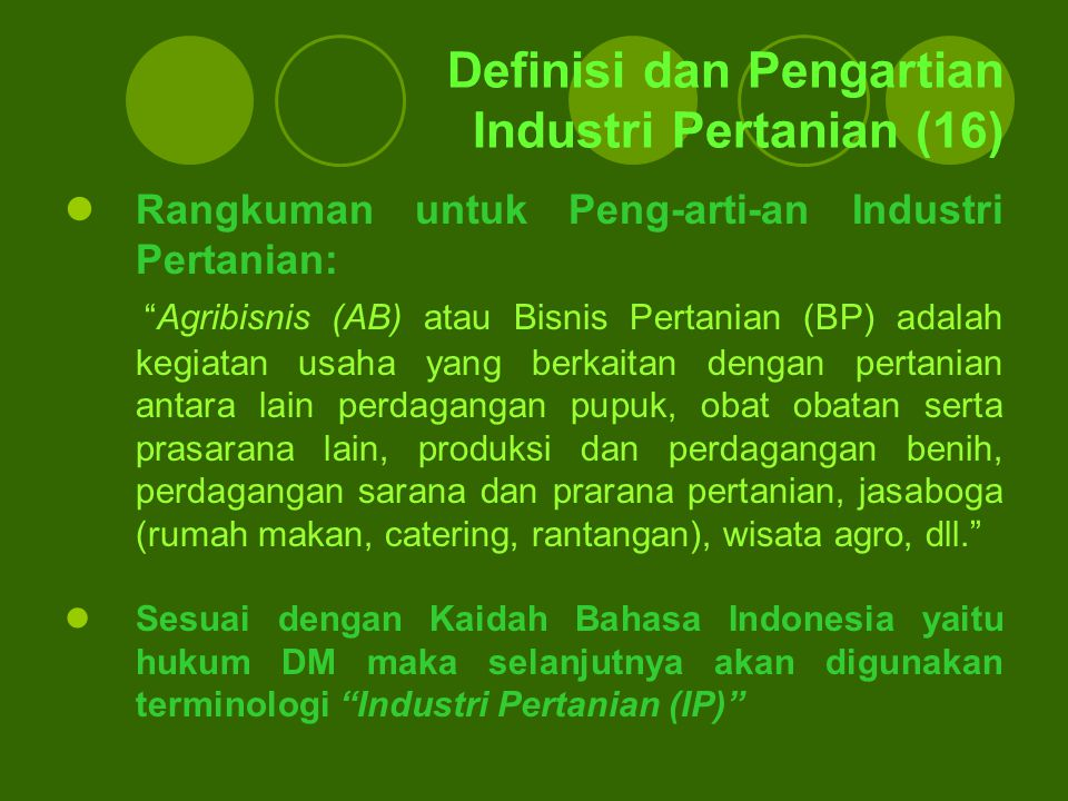 Definisi dan Pengartian Industri Pertanian (16)