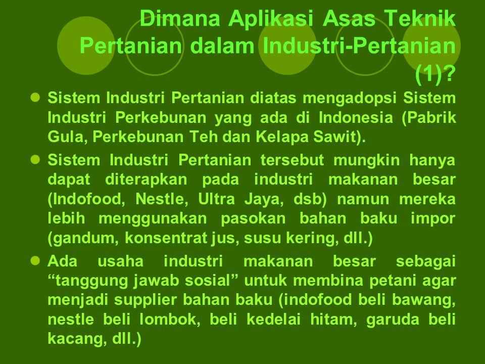 Dimana Aplikasi Asas Teknik Pertanian dalam Industri-Pertanian (1)