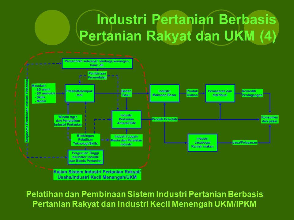 Industri Pertanian Berbasis Pertanian Rakyat dan UKM (4)