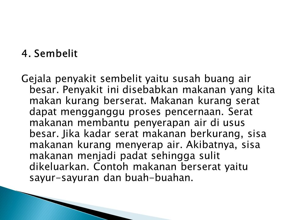 4. Sembelit