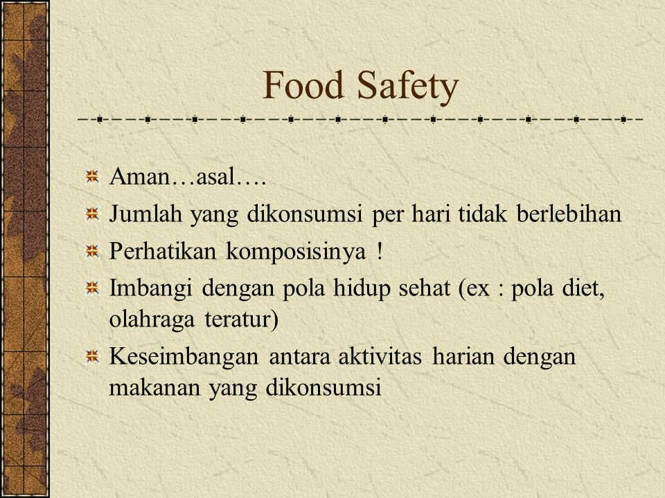 Food Safety Aman…asal….