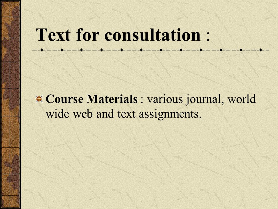 Text for consultation :
