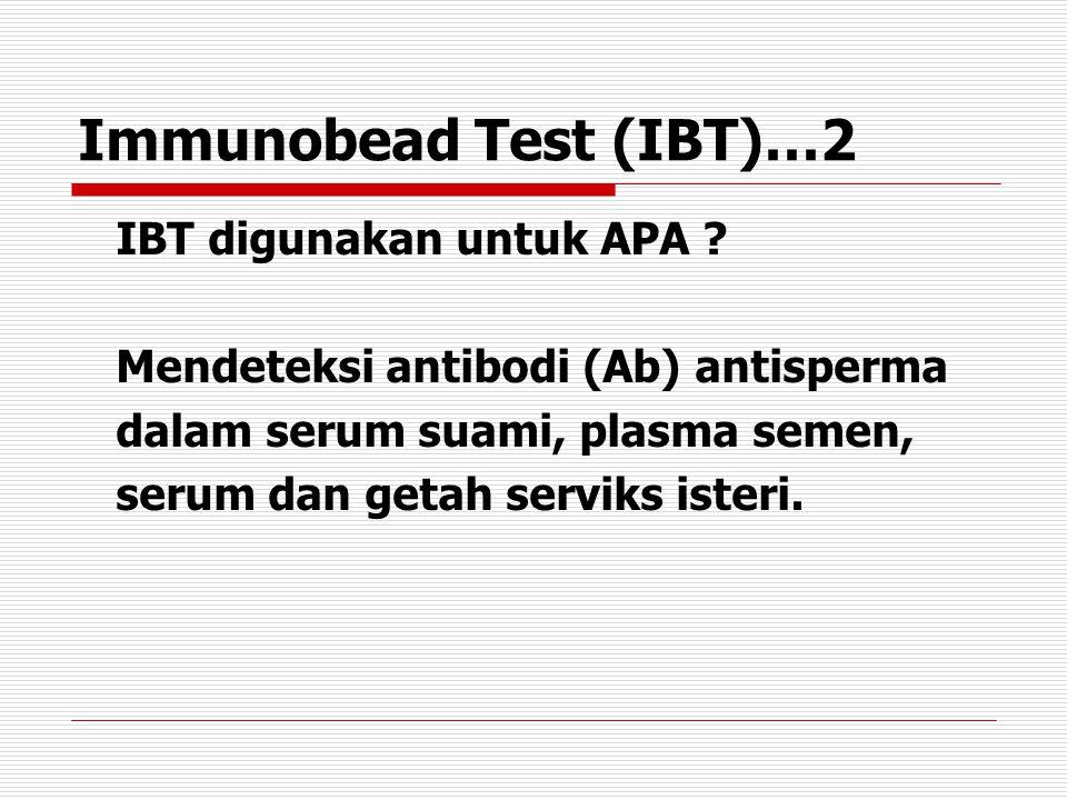 Immunobead Test (IBT)…2