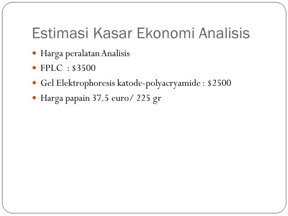 Estimasi Kasar Ekonomi Analisis