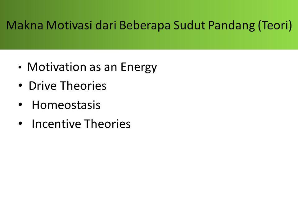 Makna Motivasi dari Beberapa Sudut Pandang (Teori)