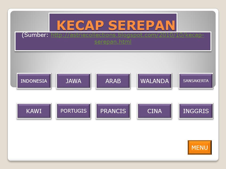 KECAP SEREPAN (Sumber: http://astriecollections.blogspot.com/2010/10/kecap-serepan.html. INDONESIA.
