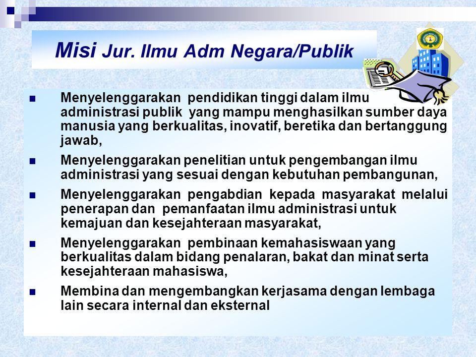 Misi Jur. Ilmu Adm Negara/Publik