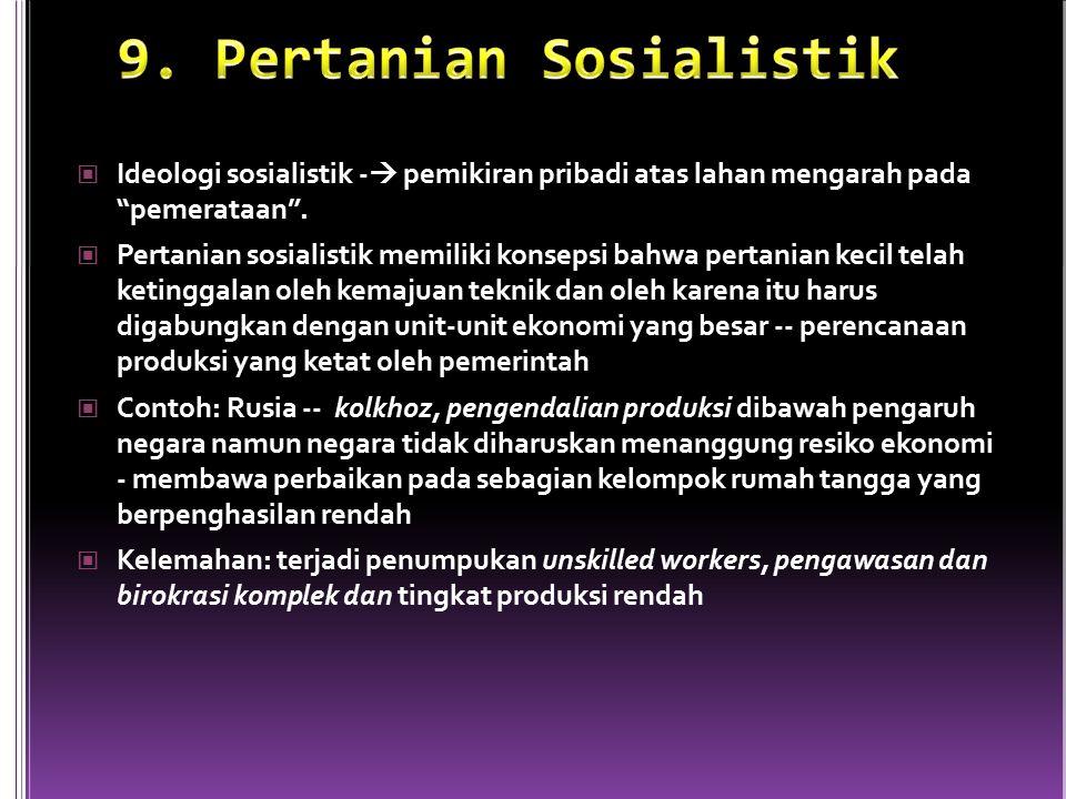 9. Pertanian Sosialistik