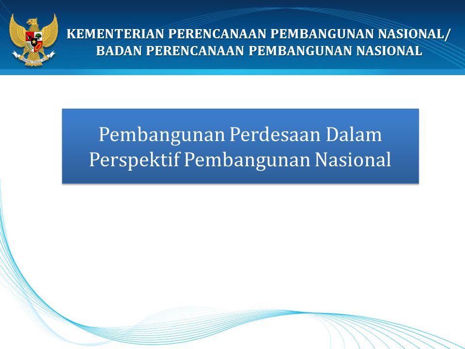 Pembangunan Perdesaan Dalam Perspektif Pembangunan Nasional