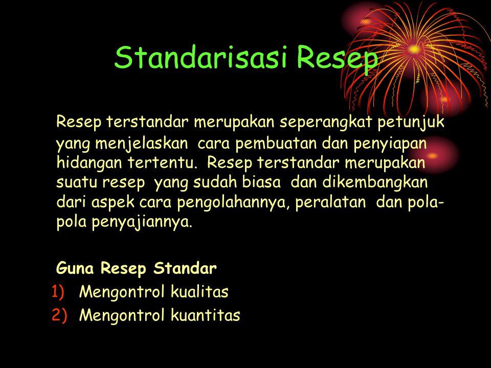 Standarisasi Resep