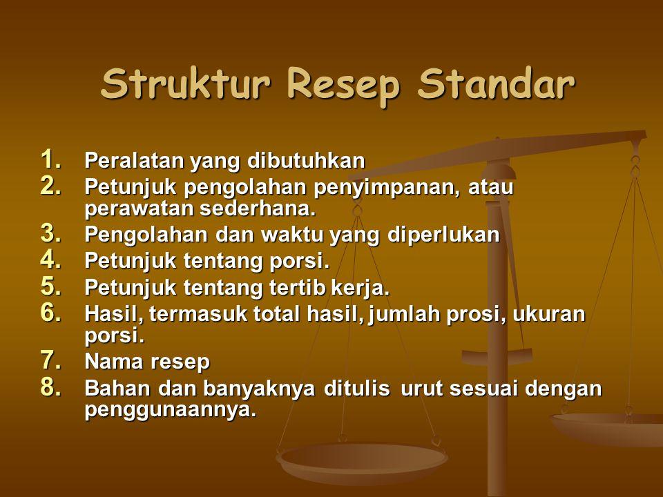 Struktur Resep Standar