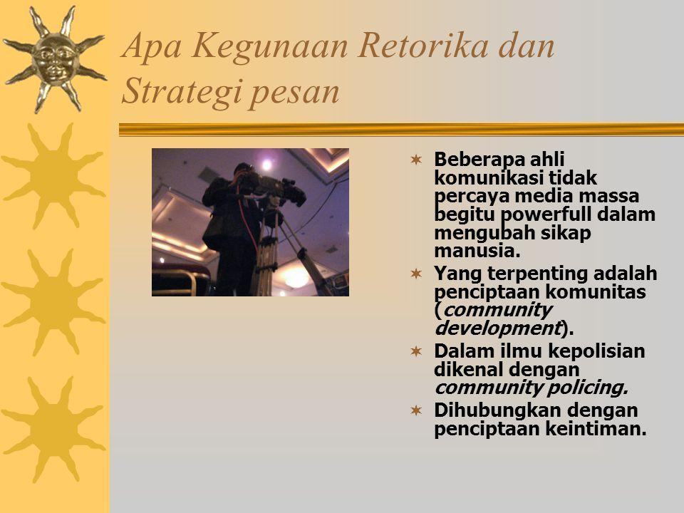 Apa Kegunaan Retorika dan Strategi pesan