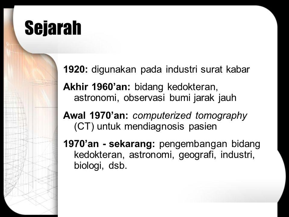 Sejarah 1920: digunakan pada industri surat kabar